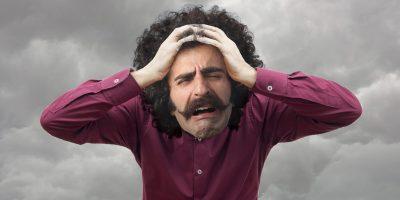 Man suffering headache